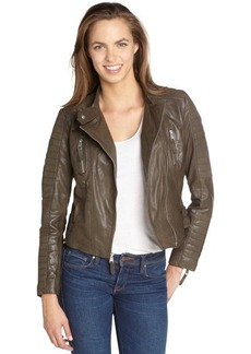 Marc New York anthracite washed leather 'Gretchen' moto jacket