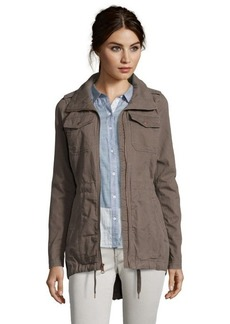 Marc New York ash twill cotton 'Bonnie' zip front anorak