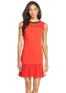 Marc New York Beaded Flounce Crepe Dress