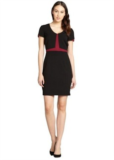 Marc New York black and bordeaux colorblock short sleeve dress