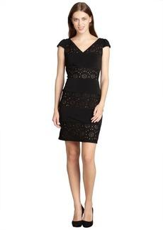 Marc New York black and nude lace detailed sleeveless v-nevk dress