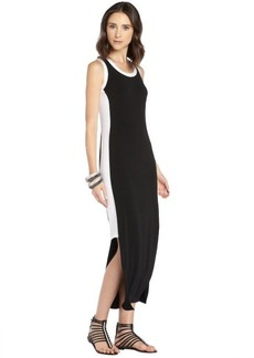 Marc New York black and white stretch colorblock maxi dress