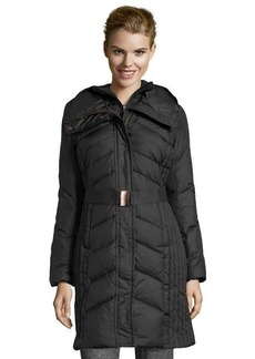 Marc New York black chevron quilted 'Misty' belted coat