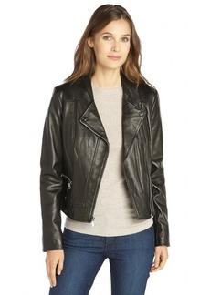 Marc New York black leather 'Ginny' moto jacket