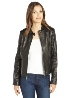Marc New York black leather zip front 'Geri' leather jacket
