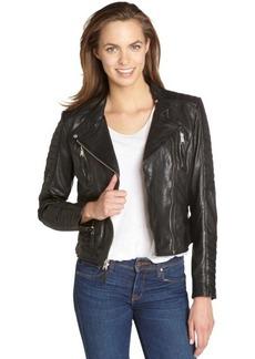 Marc New York black washed leather 'Gretchen' moto jacket