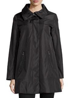 Marc New York by Andrew Marc Carmine Long Rain Coat, Black