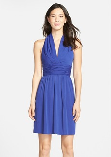Marc New York by Andrew Marc Chiffon Halter Fit & Flare Dress
