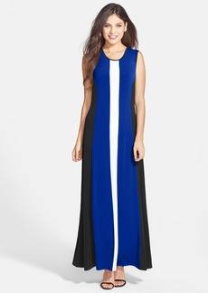 Marc New York by Andrew Marc Colorblock A-Line Maxi Dress