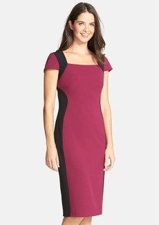 Marc New York by Andrew Marc Colorblock Stretch Sheath Dress