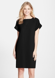 Marc New York by Andrew Marc Crepe Short Sleeve Shift Dress