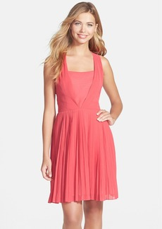 Marc New York by Andrew Marc Crushed Chiffon Fit & Flare Dress