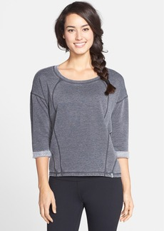 Marc New York by Andrew Marc Distressed Three Quarter Sleeve Pullover