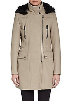 MARC NEW YORK by ANDREW MARC Ella Faux-Fur-Trimmed Coat