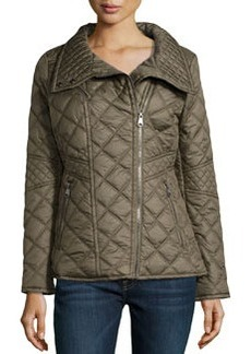Marc New York by Andrew Marc Farrah Quilted Moto Jacket, Loden