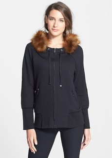 Marc New York by Andrew Marc Faux Fur Trim Hooded Jacket