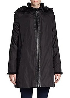 MARC NEW YORK by ANDREW MARC Faux Fur Trimmed Louisa Jacket