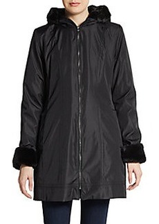 MARC NEW YORK by ANDREW MARC Faux Fur-Trimmed Three-Quarter Jacket