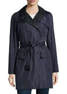 Marc New York by Andrew Marc Faux-Leather-Trimmed Raincoat, Ink