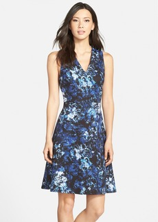 Marc New York by Andrew Marc Floral Print Scuba Fit & Flare Dress