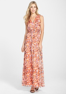 Marc New York by Andrew Marc Floral Print Shirred Maxi Dress