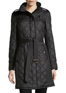 Marc New York by Andrew Marc Frankie Diamond-Quilted Long Jacket, Black