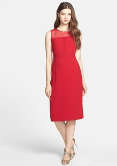 Marc New York by Andrew Marc Illusion Crepe Midi Sheath Dress