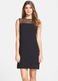 Marc New York by Andrew Marc Illusion Yoke Crepe A-Line Dress