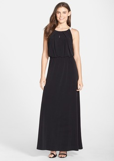 Marc New York by Andrew Marc Jersey Halter Blouson Maxi Dress