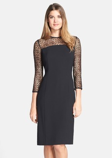Marc New York by Andrew Marc Lace & Crepe Sheath Dress