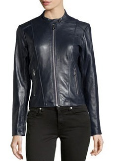 Marc New York by Andrew Marc Leather Motorcycle Jacket, Ink
