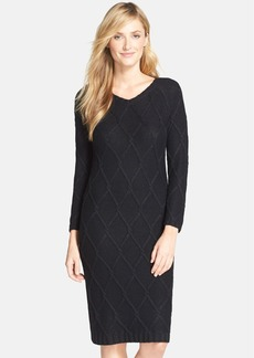 Marc New York by Andrew Marc Metallic Cable Knit Sweater Dress