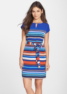 Marc New York by Andrew Marc Multistripe Woven A-Line Dress