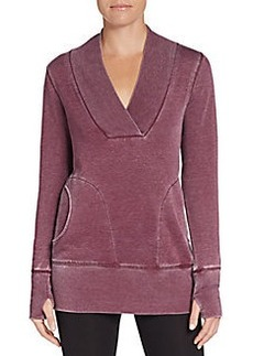 MARC NEW YORK by ANDREW MARC Performance Distressed Knit Tunic Top