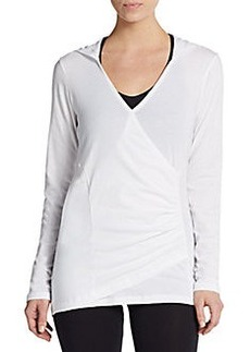 MARC NEW YORK by ANDREW MARC Performance Mock-Wrap V-Neck Hoodie