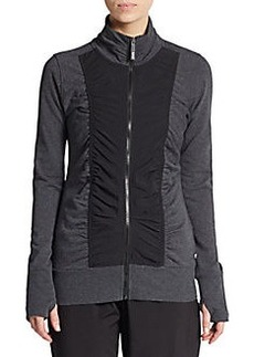 MARC NEW YORK by ANDREW MARC Performance Ruched Zip-Front Paneled Jacket