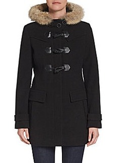 MARC NEW YORK by ANDREW MARC Piper Fur-Trimmed Toggle Coat