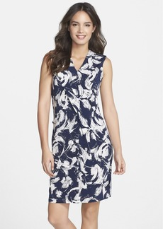 Marc New York by Andrew Marc Pleat Detail Floral Print Shift Dress