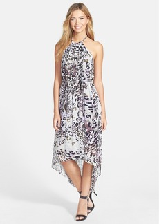Marc New York by Andrew Marc Print Chiffon Halter Dress