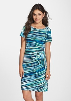 Marc New York by Andrew Marc Print Jersey Faux Wrap Dress