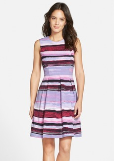 Marc New York by Andrew Marc Print Twill Fit & Flare Dress