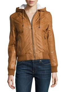 Marc New York by Andrew Marc Raquel Hooded Leather Jacket, Amber