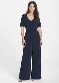 Marc New York by Andrew Marc Ruched Waist Jersey Jumpsuit