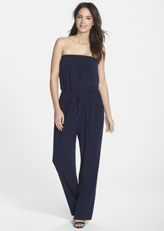 Marc New York by Andrew Marc Strapless Drawstring Jumpsuit