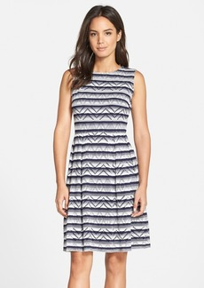 Marc New York by Andrew Marc Stripe Jersey Fit & Flare Dress
