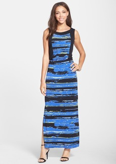 Marc New York by Andrew Marc Stripe Jersey Maxi Dress