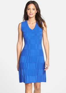 Marc New York by Andrew Marc Textured Knit Fit & Flare Dress