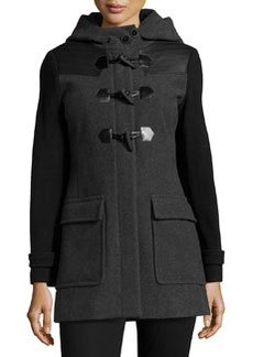 Marc New York by Andrew Marc Toggle-Front Wool-Blend Coat, Charcoal/Black