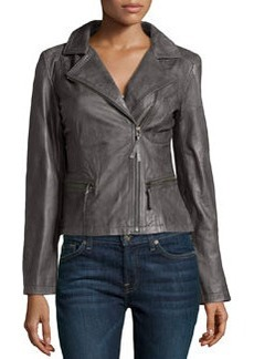 Marc New York by Andrew Marc Tumbled Leather Moto Jacket, Anthracite