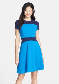 Marc New York by Andrew Marc Two-Tone Fit & Flare Dress